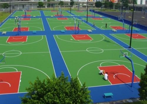 山东塑胶篮球场报价 济南塑胶篮球场供应商 青岛青洋塑胶铺装有限公司