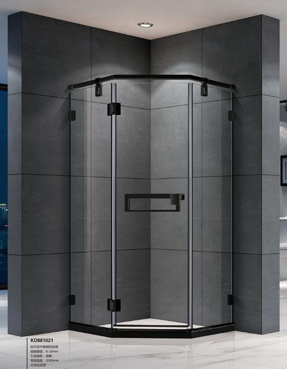 豪华不锈钢淋浴房价格/扇形淋浴房/中山市凯莎卫浴有限公司