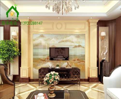 背景墙 彩雕瓷砖电视背景墙 佛山市陶尚方建材有限公司