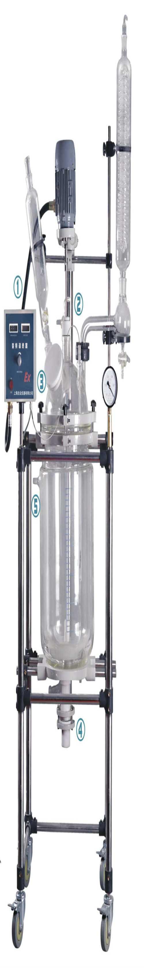 供应双层玻璃反应器现货 3L旋转蒸发仪 上海吉众生物科技有限公司