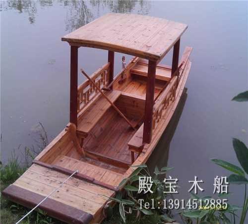 餐饮木船制造商 画舫手划船厂家 兴化市殿宝木船制造有限公司
