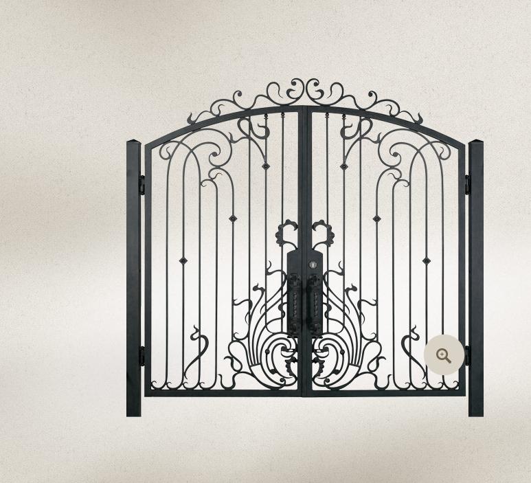 欧式花圃天井门报价表-楼梯组合雕栏-鸿猷铁艺