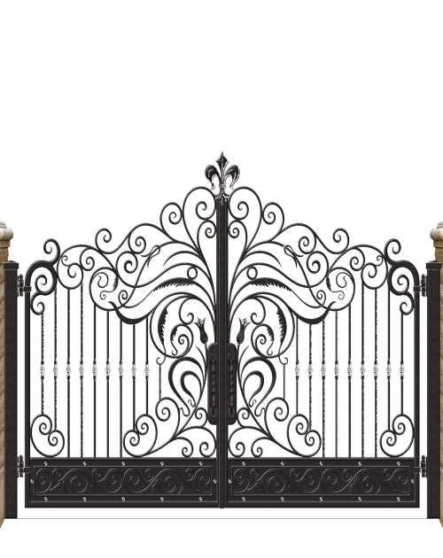 花园门多少钱一平方-防护组装栏杆-鸿图铁艺
