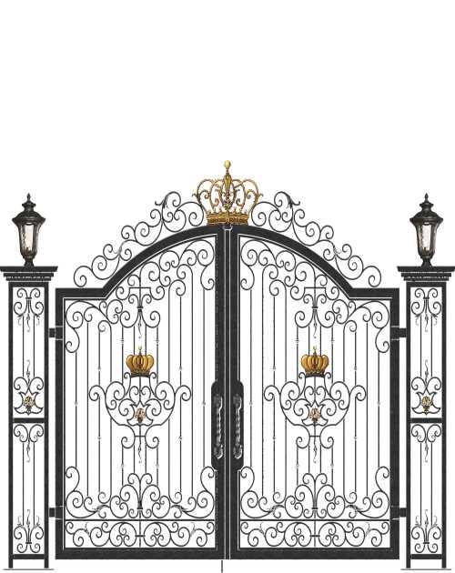 中式豪华庭院门多少钱一米-园林围栏图片-鸿图铁艺