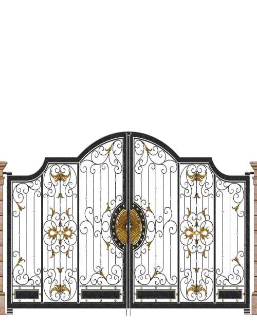 中式天井大门价钱-别墅铁艺园林围栏-鸿猷铁艺