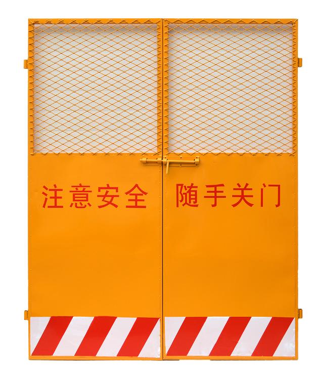 电梯井防护门厂家/电梯井口防护门厂家/施工电梯楼层防护门