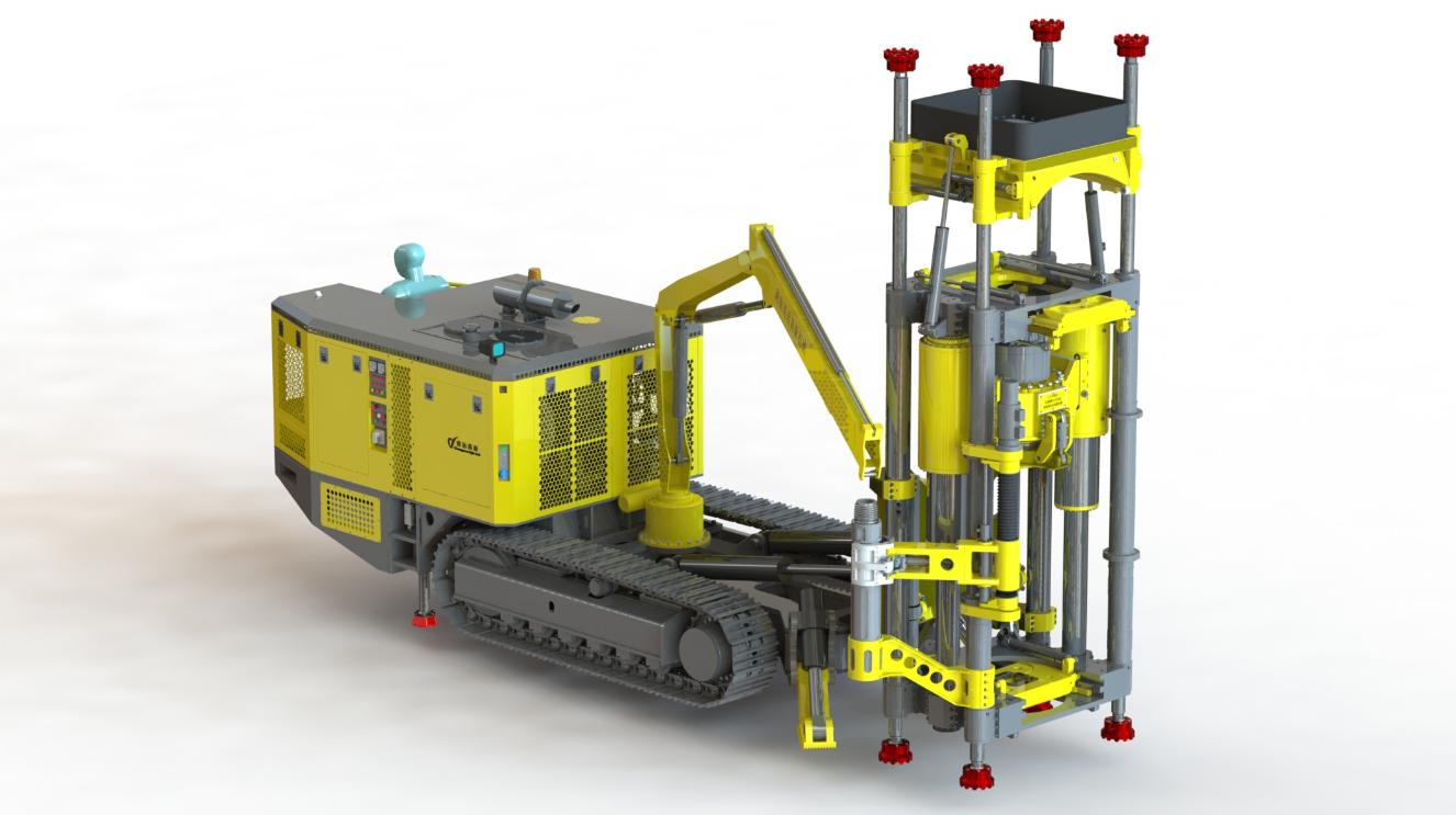 江苏切割槽钻机反井钻机/小型反井钻机型号/湖南创远高新机械有限责任公司
