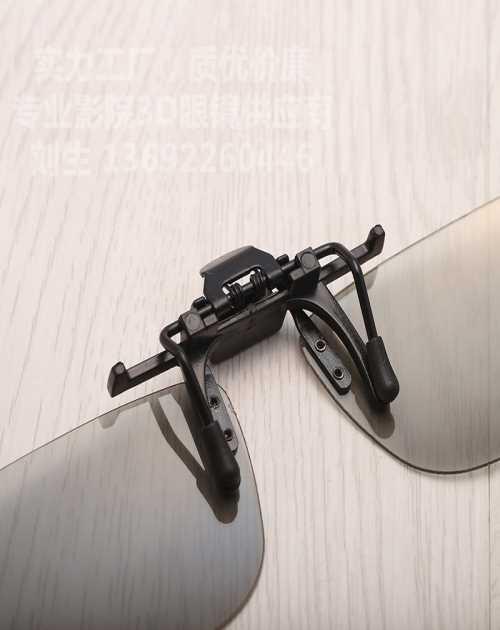 电影院3d眼镜圆偏光3d眼镜不闪式3d夹片近视3D立体眼镜