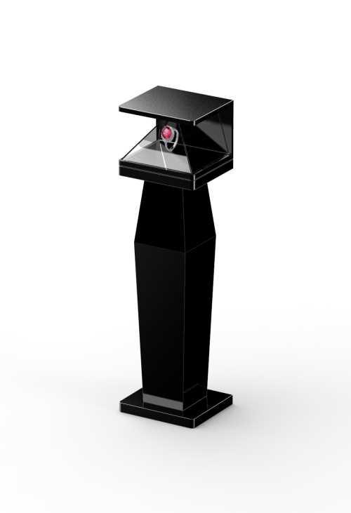 黄金3D全息柜-多媒体3D全息柜尺寸定制-多媒体3D全息柜成像系统