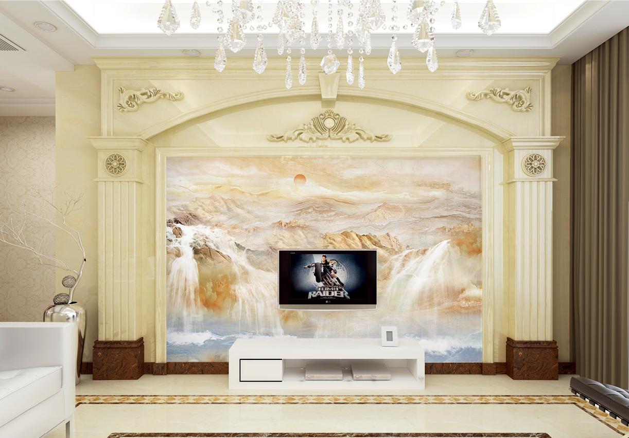 微晶石瓷砖配景墙-欧式罗马柱图片-佛山市陶尚方建材无限公司