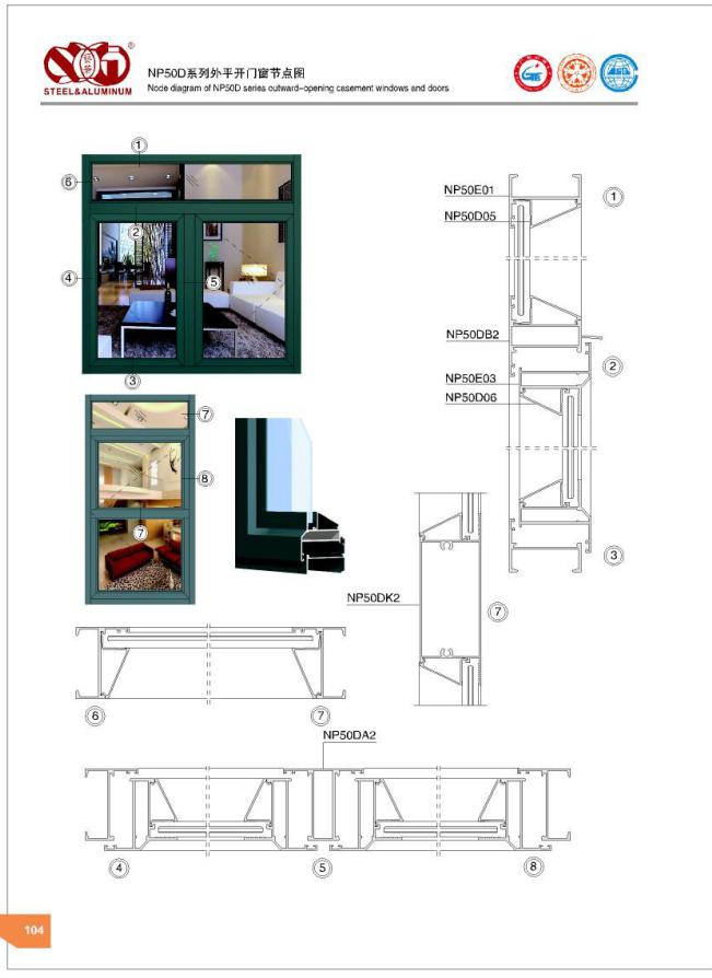 艺华出口铝材-佛山内装成品门窗尺寸-广东艺华不锈钢铝业有限公司