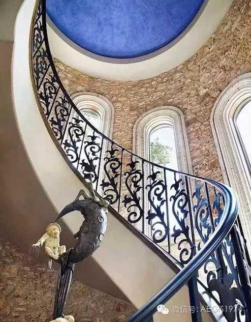 铁艺楼梯扶手厂家 室内欧式楼梯扶手 鸿图铁艺