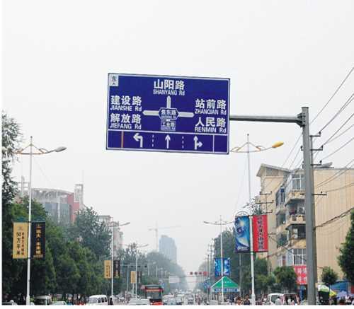 河南八棱杆生产厂家 道路限高架定制 河南省新乡市新星交通器材有限公司