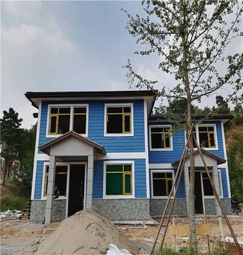 中式风格轻钢别墅设计/移动岗亭哪家好/山西盛大钢结构工程有限公司