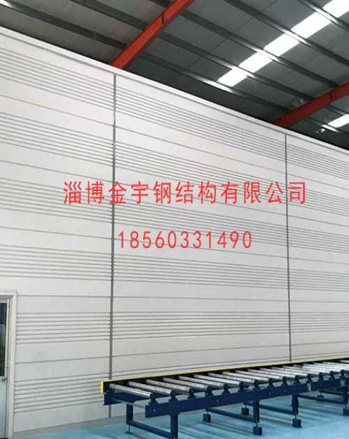 上海金属面夹芯板生产厂家/天津聚氨酯封边岩棉板厂家/淄博金宇钢结构有限公司