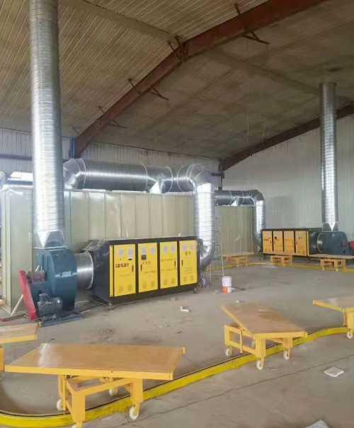 水旋环保柜 电动伸缩喷漆房 济南义生利环保设备有限公司